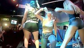 Drunk wild girls are dancing and twerking