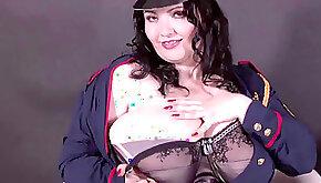 The Romanian BBW Goddess Alicia Huge Boobs in Uniform