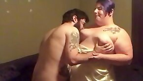 Satin Lingerie bbw Fucked and Creampied then Squirts