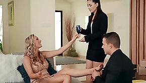 Rich milf Brett Rossi craves steamy threesome sex