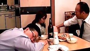 Japanese wife fucked next to husband full bit.
