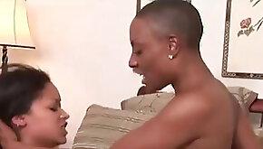 Dark hued lesbians drill On a Farm