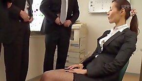 Asian woman Morishita Mio enjoys swallowing warm cum