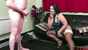 Nicola Kiss watches a man with small dick masturbate for her