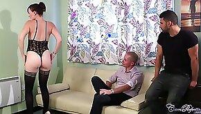Hot Wife Cherri Cuckold Blowjob