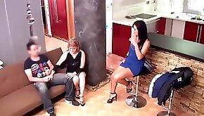 Delia rosa and jazmina vulcan real spanish mother and daughter again hidden cam