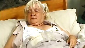 Granny Mildred enjoying monster cock stud bang hardcore missionary