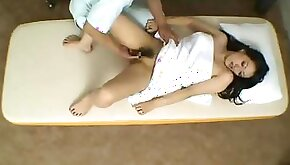 Invasive massage and fuck with Japanese girl