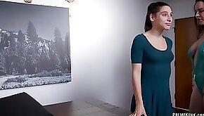 MILF makes stepdaughter anal fuck bdsm