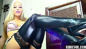 Blonde Mistress In Boots