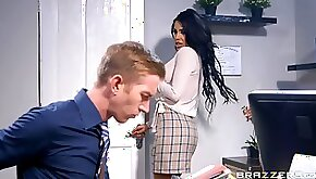 Alice Judge shines during office sex with a well hung white man