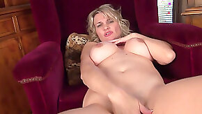 Horny housewife Roxy Jay strikes a variety of provocative poses