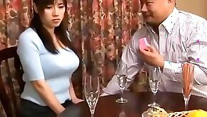 Shameful japanese wife like cheating blowjob then get toys and flower plugged up her ass while sleeping