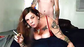Smoking Milf Gets Pounded Doggy Style
