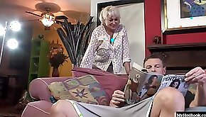 Dana Hayes catches her neighbor reading a dirty magazine