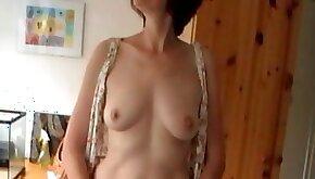 Mature enjoys dildo in a voyeur masturbation video