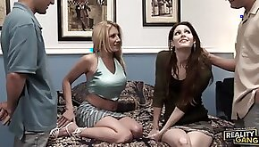 Vivian West And Jenni Lee Find Pleasure In A Hot Foursome