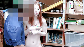 Seductive redhead mom humped by a perverted LP officer