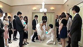 Best man takes bride in japanese wedding asian