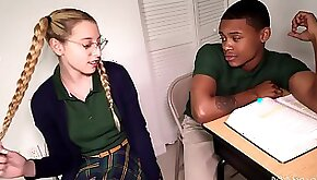 This Horny Amateurs White Young Babe Got Into Bl interracial