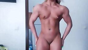 Teenager Muscle webcam Blonde Girl displays