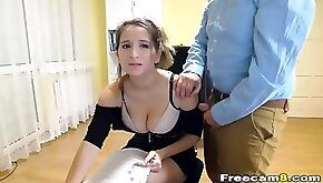 Hang on tight in this hot office babe