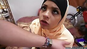 Arab cutie Desert Rose spreads legs for fucking and receives cum in mouth