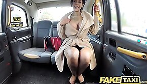 Fake Taxi Tattoos big juicy tits and long legs gets her anal