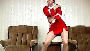 Horny slut MILF Dancing After Xmas Party