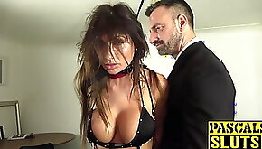 Hot MILF subslut gagged and hammered by master Pascal