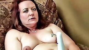 Slut Ann vibs and dildos herself to a hot orgasm