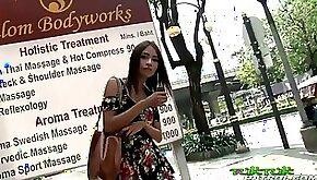 Tuk Tuk Patrol Sexy girl takes on big white cock