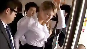 Milf wife groped and fucked on train watch